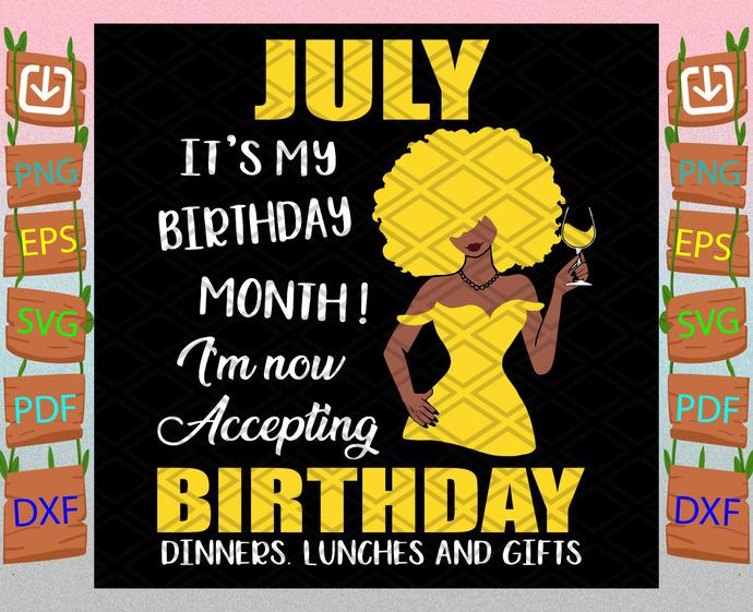 July Is My Birthday Month Svg, Birthday Svg, July Birthday Svg, July Svg, Born