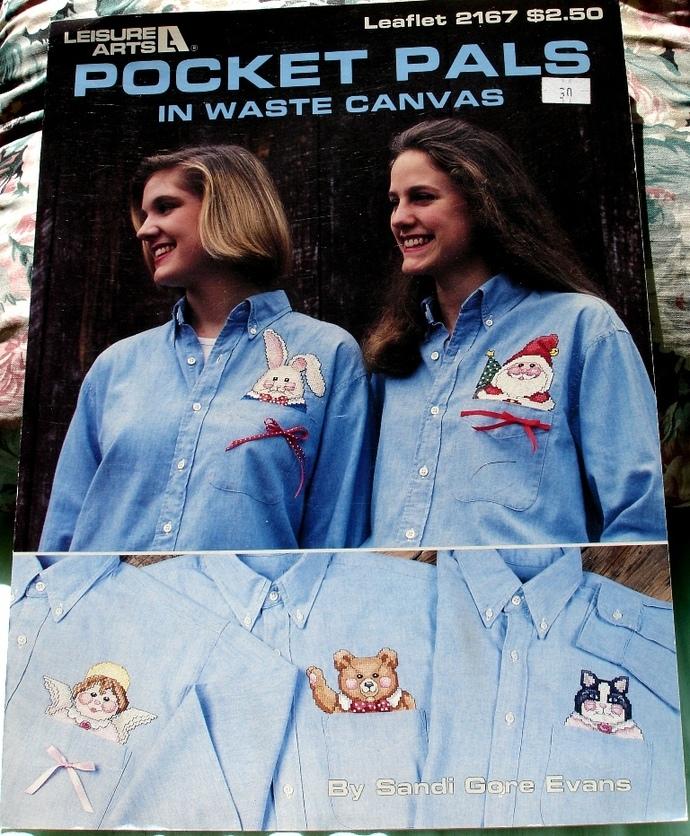 Pocket Pals In Waste Canvas Leisure Arts Leaflet 2167 By Sandi Gore Evans