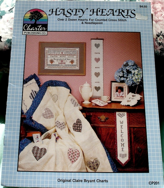 Hasty Hearts Cross Stitch Pattern Charter Publishing Company CP201 By Claire
