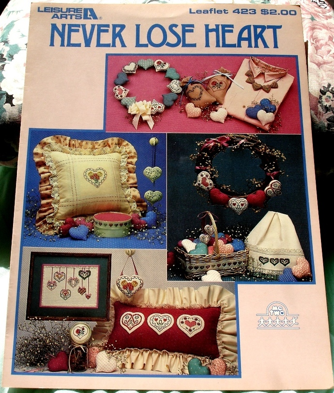 Never Lose Heart Cross Stitch Patterns By Leisure Arts Leaflet 423
