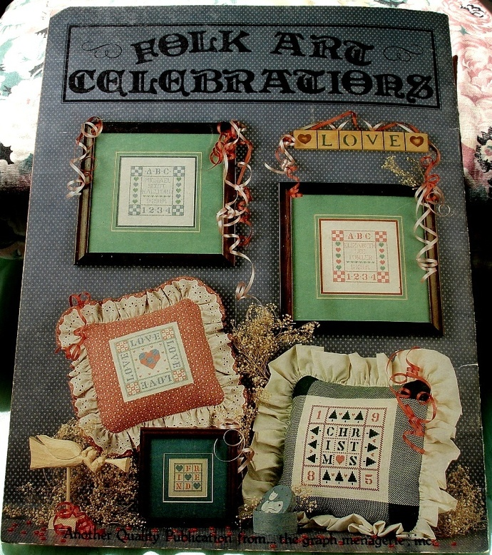 Folk Art Celebrations Cross Stitch Booklet By The Graph Menagerie Book 16