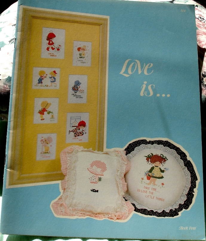 Love Is Cross Stitch Pattern Book Four By Busy Hands Needlework Designs