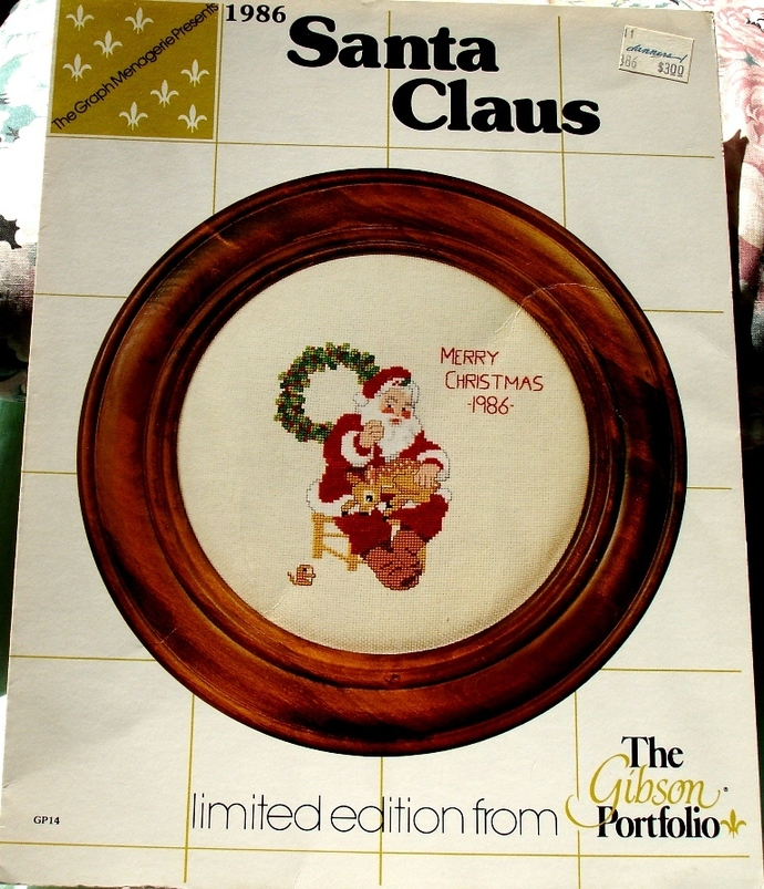 1986 Santa Claus Cross Stitch From The Gibson Portfolio By Graph Menagerie