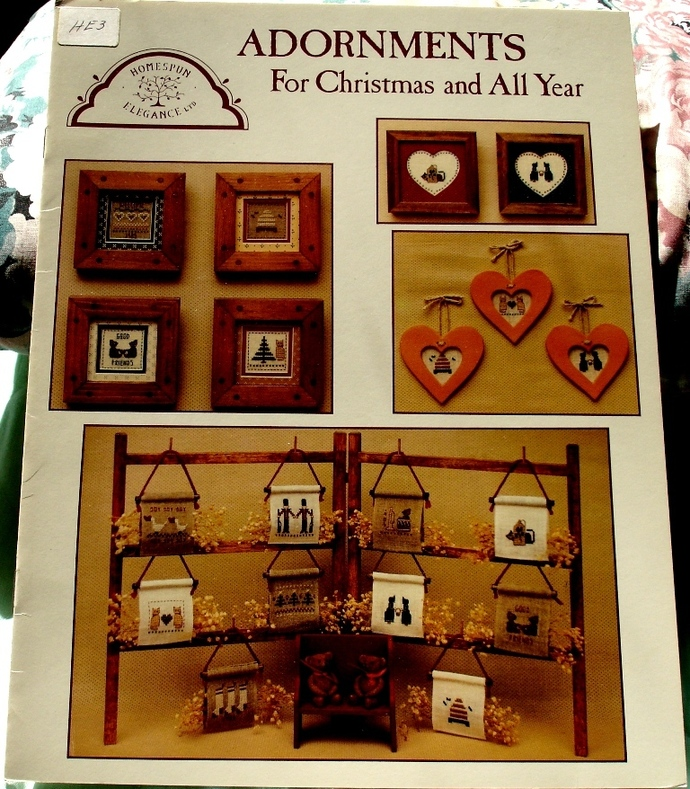 Adornments For Christmas And All Year Homespun Elegance Cross Stitch