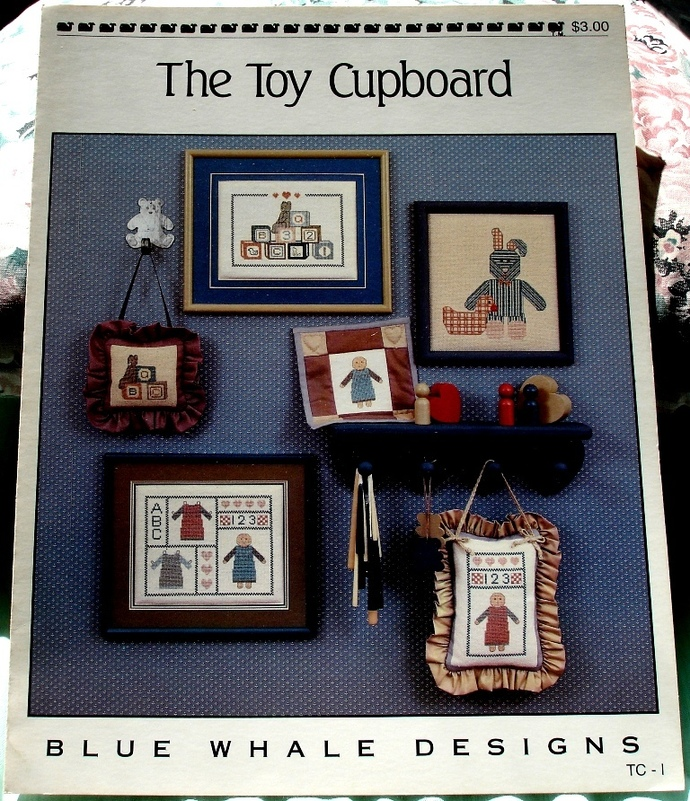 The Toy Cupboard Counted Cross Stitch By Blue Whale Designs