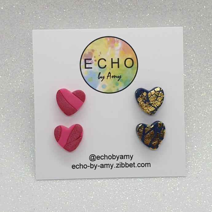 Clay Stud Twin Pack - Olive Heart pack