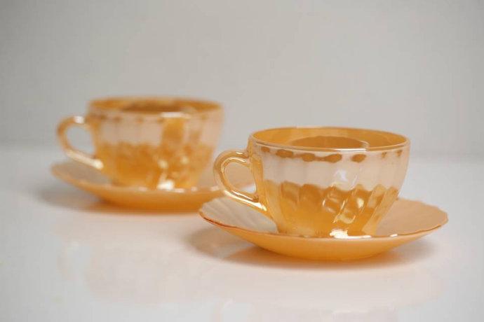 Termocrisa (Mexico) Peach Lustre Large Tea - Coffee - Latte - Milk Cup and