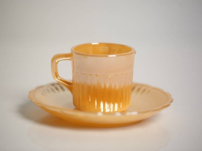 Anchor Hocking (USA) Espresso Cups and Saucers / Vintage