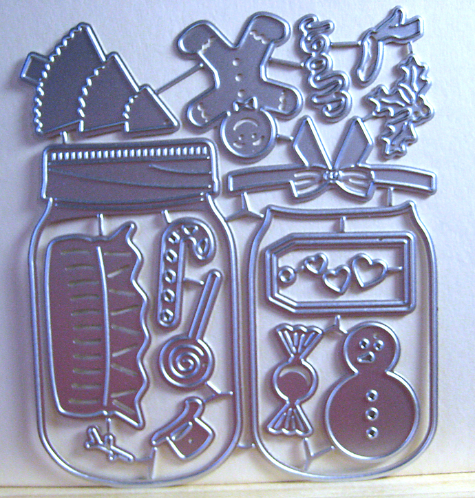 17pc Candy Jar Metal Cutting Die Set