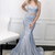 Mermaid two pieces long prom dress  evening dress
