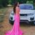 Mermaid Satin Deep V-neck Backless Prom Dress