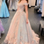 princess off the shoulder  long and floral prom dress