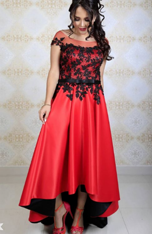 High-Low Long Prom Dress,Appliques  Evening Dress,Charming Prom Dresses,Prom