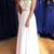 Unique A Line Colorful Beads Chiffon White Formal Dresses prom dress