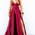 Satin Backless Long Cut Out Prom Dress