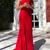 Satin One Shoulder Prom Dress With Side Split