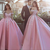 Ball Gown Pink Off Shoulders Wedding Dress,Ball Gown Prom Dress