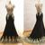 Custom Made V-Neck Elegant Mermaid Dress Black Floor Length Party Gown Cheap