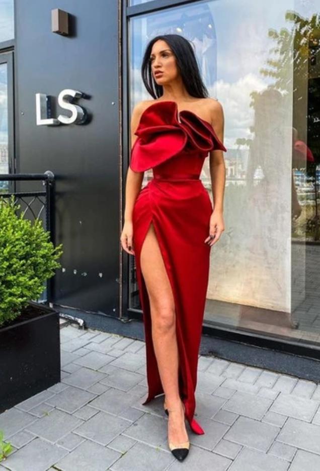 Unique Prom Dress With High Split