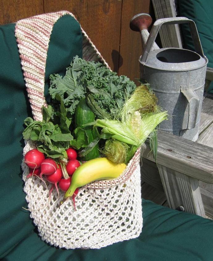 Natural Eco-friendly Reusable Cotton Mesh Market Bag