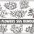 Flower SVG Bundle, rose svg, flowers svg, bouquet svg, floral svg, leaf svg,