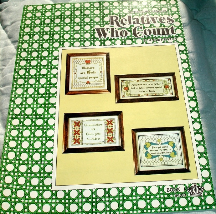 Relatives Who Count Cross Stitch Charts Book 1 By Angie Newton