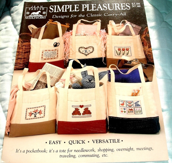 Simple Pleasures Design For The Class Carry All By Jean Farish Needleworks No.