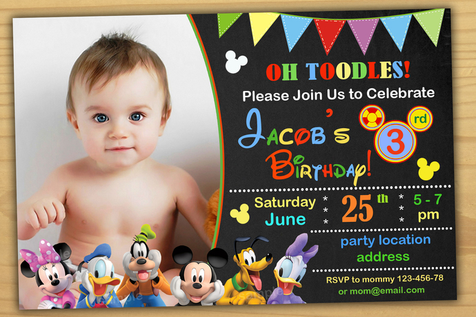 Mickey mouse clubhouse birthday invitations,Birthday Party Invitation,Clubhouse