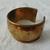 vintage hammered brass wide cuff bracelet