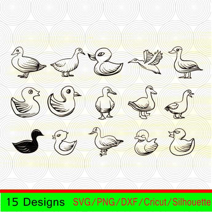 Duck bundle svg,Duck clipart,Duck vector,Duck silhouette,baby duck svg,cute baby