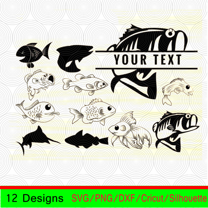 Download Fish Bundle Svg Fish Svg Fish Clipart Fish By Ocean Digital On Zibbet