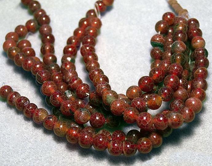 Medium Red Crabs- gemstone beads