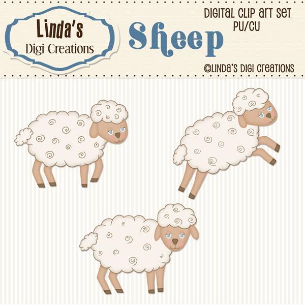 Sheep ClipArt Set