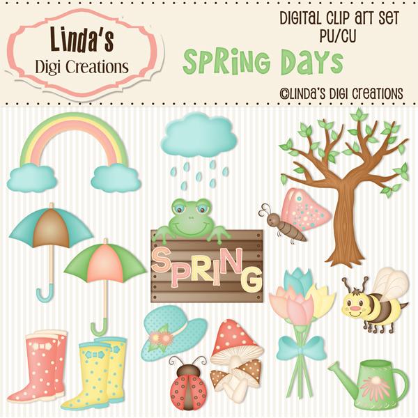 Spring Days ClipArt Set