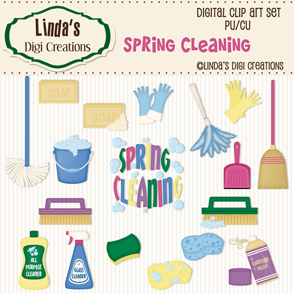 Spring Cleaning ClipArt Set