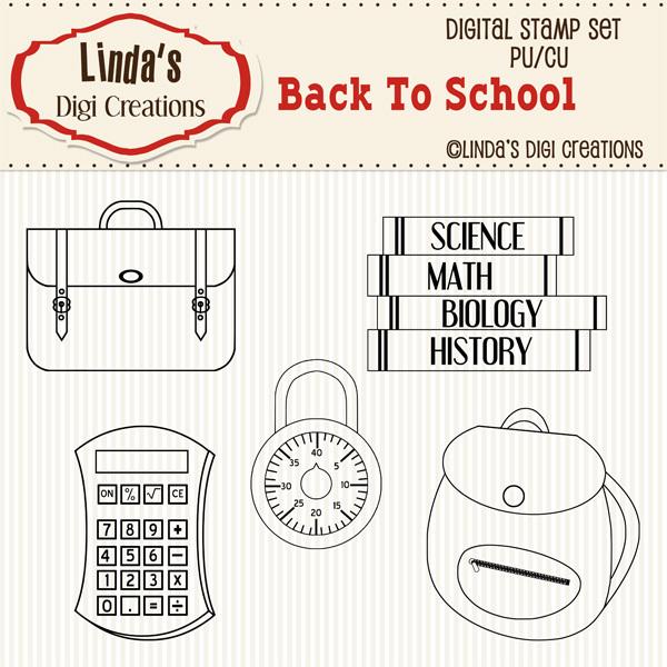 Back To School _ Digital Stamp Set