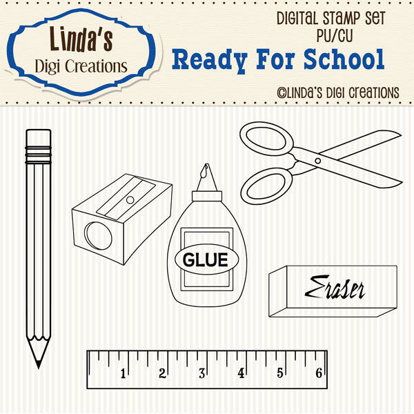 Ready For School _ Digital Stamp Set