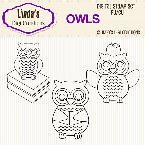 Owls _ Digital Stamp Set