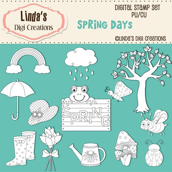 Spring Days _ Digital Stamp Set