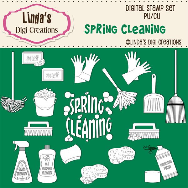 Spring Cleaning _ Digital Stamp Set