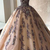 Tulle sweetheart long A-line customize prom dress, long evening dress with lace