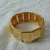 vintage gold metal segmented cuff bracelet