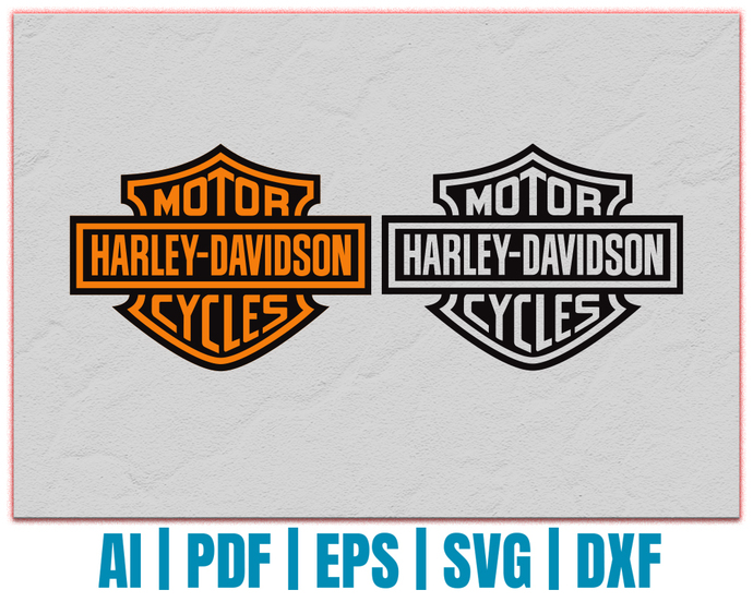 Harley Davidson vector | Harley Davidson logo dxf | eps | png | cricut cut file