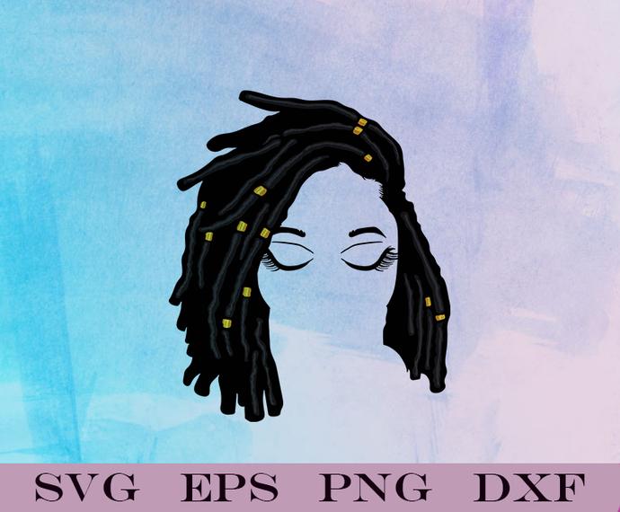 Afro Black Woman, American Nubian Melanin Black Girl, Beautiful Classy Lady SVG,