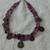 vintage purple amethyst brass foreign coins multi strand necklace torsade