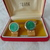 vintage Swank watermelon heliotrope volcano glass cuff links boxed mint
