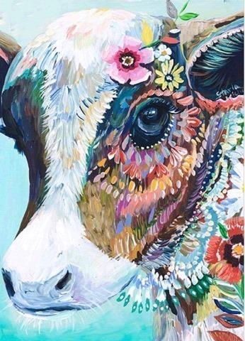 COW (4) XSTITCH KIT