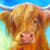 HIGHLAND COW (4) XSTITCH KIT