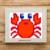 Cute Crab 25 x 25 grid C2C graphghan pattern
