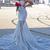 One Shoulder Appliques Slim Mermaid Evening Dress Sweet Train Prom Dress